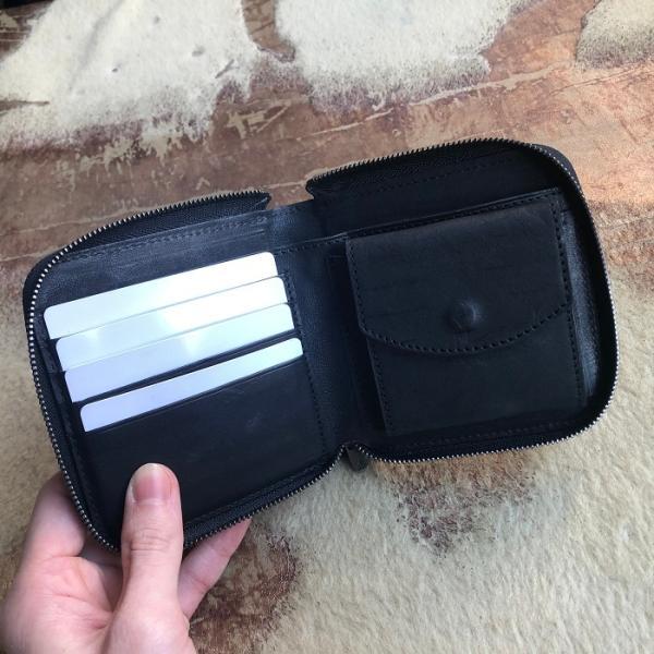 イタリア グイディ(GUIDI)社製フィオーレカーフのラウンドファスナーレザー二つ折り財布/ウォレット|bashamichi-imai|07