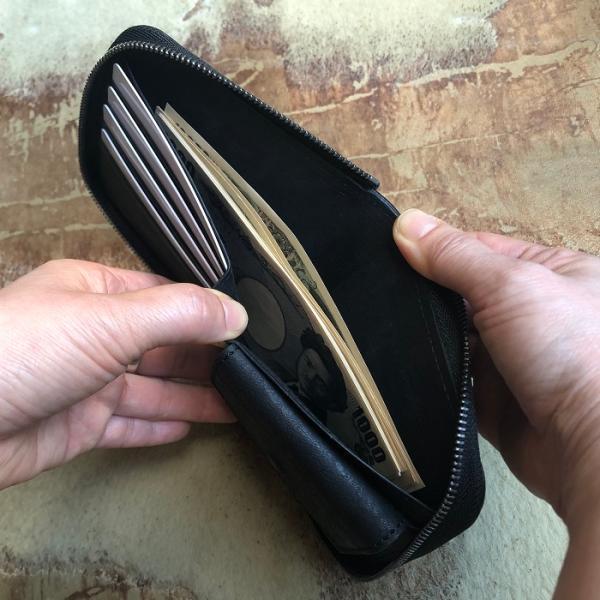 イタリア グイディ(GUIDI)社製フィオーレカーフのラウンドファスナーレザー二つ折り財布/ウォレット|bashamichi-imai|08