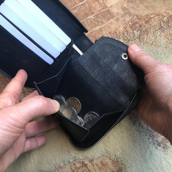 イタリア グイディ(GUIDI)社製フィオーレカーフのラウンドファスナーレザー二つ折り財布/ウォレット|bashamichi-imai|09