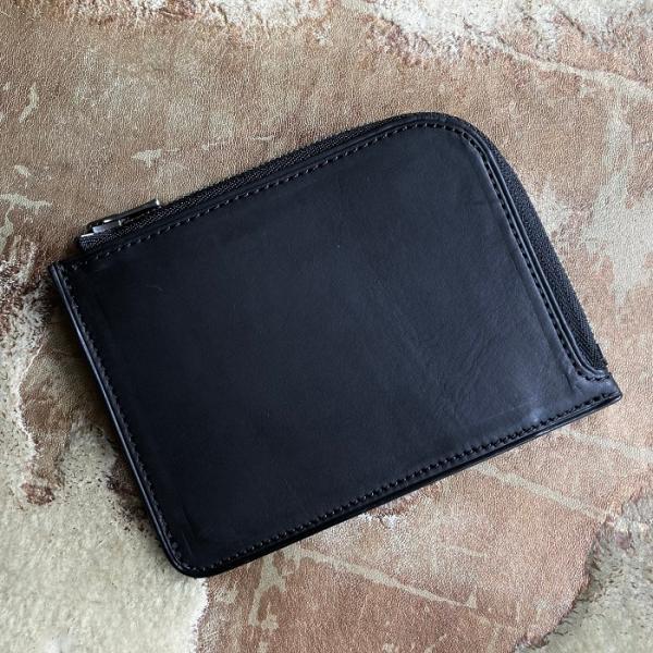 イタリア グイディ(GUIDI)社製フィオーレカーフのレザー小型L字ファスナー財布/ウォレット bashamichi-imai