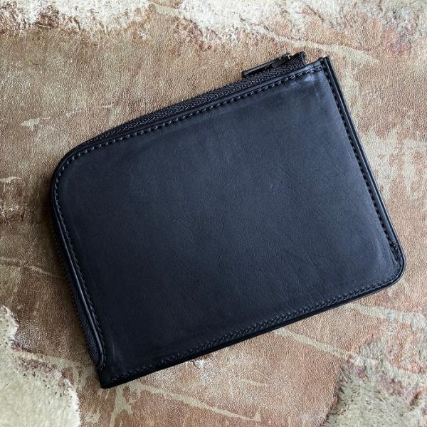 イタリア グイディ(GUIDI)社製フィオーレカーフのレザー小型L字ファスナー財布/ウォレット bashamichi-imai 02