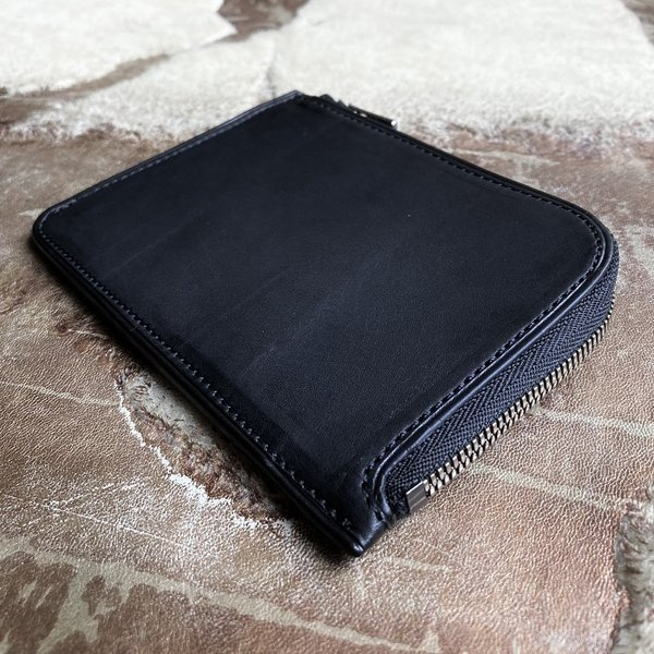 イタリア グイディ(GUIDI)社製フィオーレカーフのレザー小型L字ファスナー財布/ウォレット bashamichi-imai 03