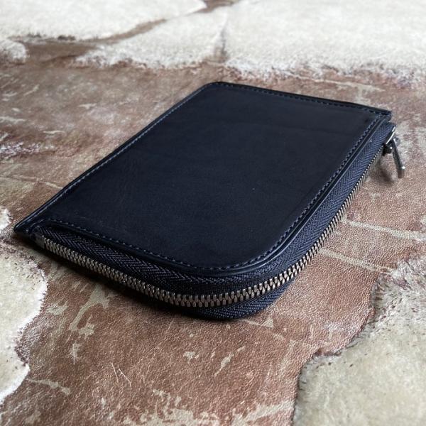 イタリア グイディ(GUIDI)社製フィオーレカーフのレザー小型L字ファスナー財布/ウォレット bashamichi-imai 04