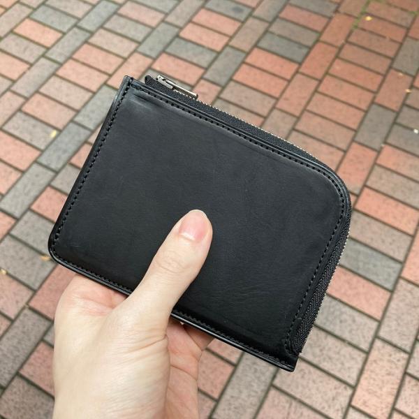 イタリア グイディ(GUIDI)社製フィオーレカーフのレザー小型L字ファスナー財布/ウォレット bashamichi-imai 06