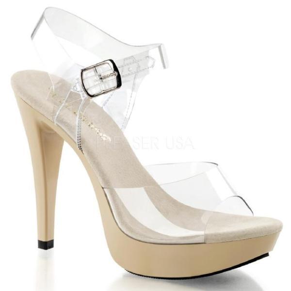 COCKTAIL-508 5インチ(約12.5cm)ハイヒール ミュール クリアサンダル /Pleaserプリーザー パーティー 靴 大きい シンデレラサイズ