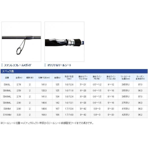 ●シマノ ムーンショット S900L スピニングモデル (36741)