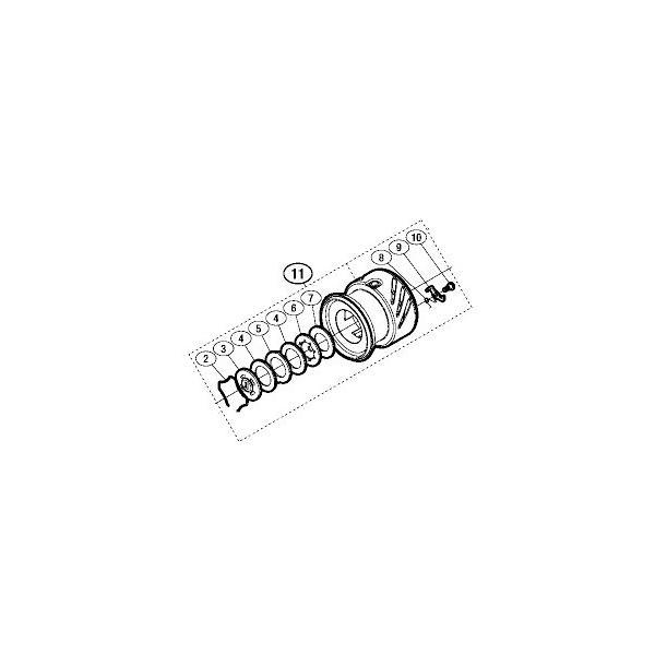 ●シマノ 16 ストラディックCI4+ 3000XGM (03494)用 純正標準スプール (パーツ品番105) 【キャンセル及び返品不可商品】 【まとめ送料割】
