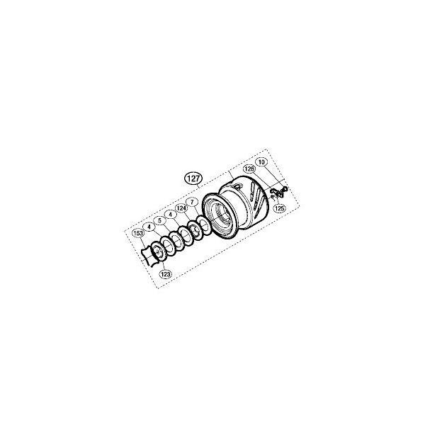 ●シマノ 16 ストラディックCI4+ 4000XGM (03495)用 純正標準スプール (パーツ品番105) 【キャンセル及び返品不可商品】 【まとめ送料割】