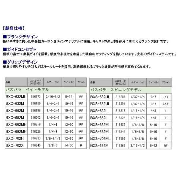 ●メジャークラフト NEW バスパラ BXS-702ML 2ピース (スピニングモデル)