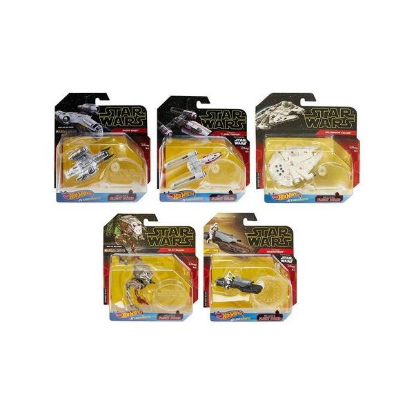 1/64 Hot Wheels ホットウィール スター・ウォーズ スターシップ 6個アソート (FYT65-986F) baton-store