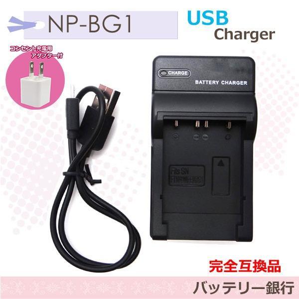 SONY  NP-BG1/DSC-HX10V/DSC-HX30V/HDR-GW77V/DSC-T100/DSC-T20対応 互換急速USB充電器 即日発送 アクセサリー