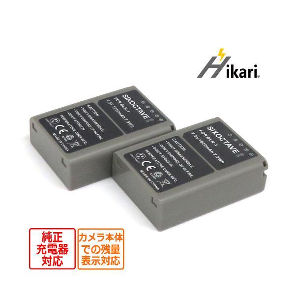 2個セット OLYMPUS BLN-1 完全互換バッテリー充電池 OM-D E-M5/ E-P5/ OM-D E-M1 / OM-D E-M5 Mark IIデジタル一眼レフカメラ対応