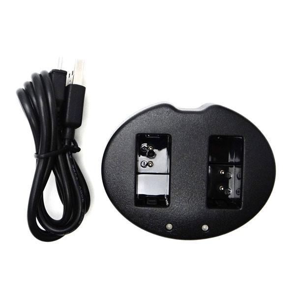 ニコン 1  EN-EL20a バッテリー用USB型充電器デュアルチャネル バッテリーチャージャーMH-27Nikon 1 S1/Nikon 1 AW1 カメラバッテリーチャージャー