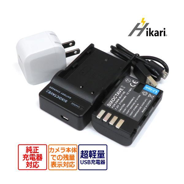パナソニック DMW-BLF19 互換バッテリー と充電器USBチャージャー DMW-BTC10 セット デジタルカメラ対応 残量表示対応DC-GH5-K