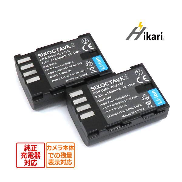 2個セット Panasonic DMW-BLF19互換バッテリーLUMIX DMC-GH3A DMC-GH3H DMC-GH3 DMC-GH4 DMC-GH4H カメラ対応DC-GH5M-K