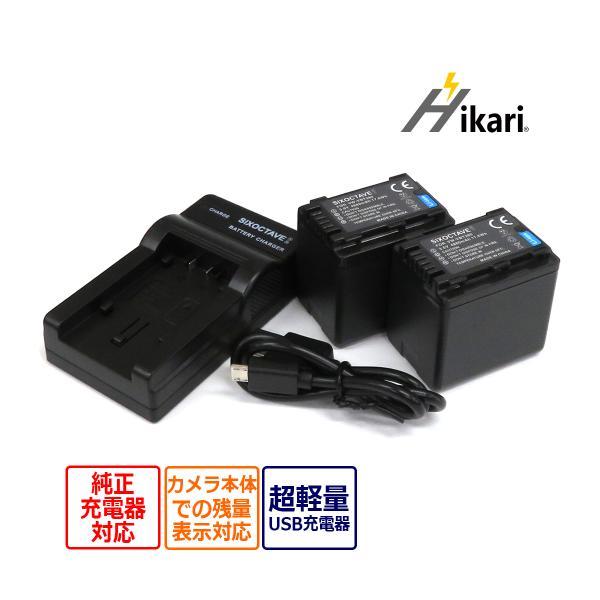 Panasonic VW-VBT380/ VW-VBT380-K 互換バッテリー 2個&USBチャージャー VW-BC10-K の3点セット  HC-V620M/HC-V720M/HC-V750M/HC-WX1M/HC-WZX1M/HC-WXF1M 等