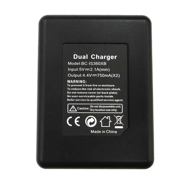 【あすつく】互換バッテリーと互換DUAl充電器   IS360XB Insta360 ONE X  2個同時充電可能 Shenzhen Arashi Vision