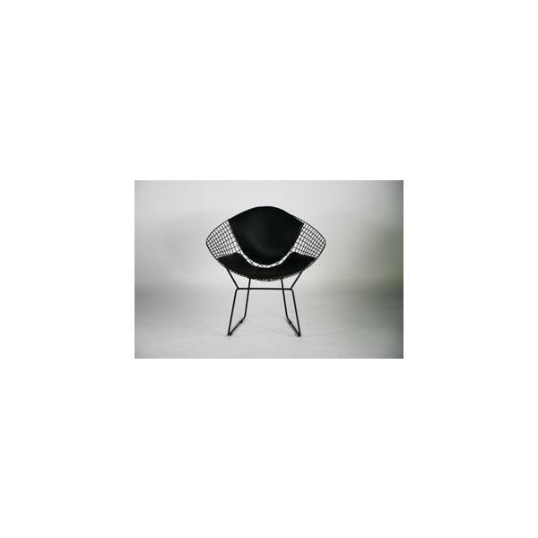 RoomClip商品情報 - クッション付き ダイヤモンドチェア ハリーベルトイア BK