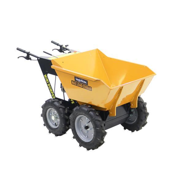 ダンプカート エンジン式 Honda GXV160内蔵 4ストローク 最大積載重量約250kg 積載容量約200L 5.5馬力 4輪 ダンパー エンジン 台車 運搬車 黄 minidumpd25y