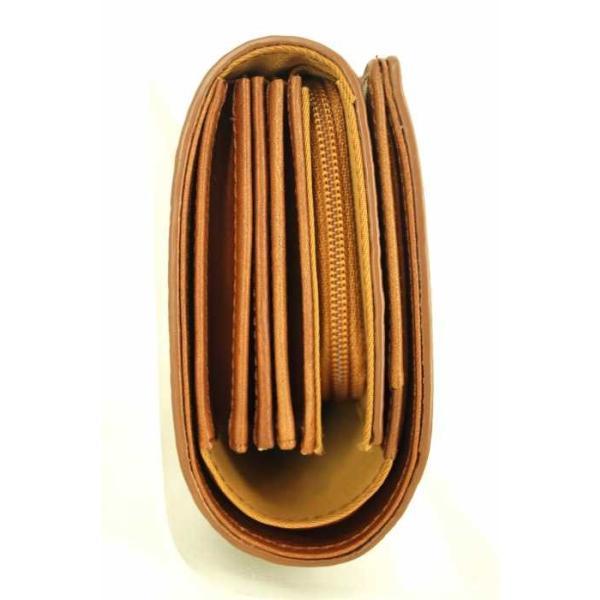 無印良品 MUJI 二つ折り財布 メンズ サイズ表記無 ヌメシュリンク革ジャバラ2つ折財布  中古 ブランド古着バズストア 140418|bazzstore|03