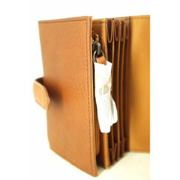 無印良品 MUJI 二つ折り財布 メンズ サイズ表記無 ヌメシュリンク革ジャバラ2つ折財布  中古 ブランド古着バズストア 140418|bazzstore|05