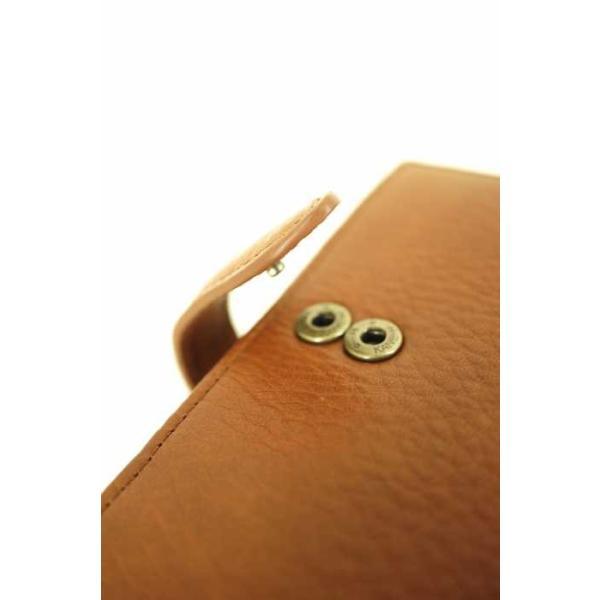 無印良品 MUJI 二つ折り財布 メンズ サイズ表記無 ヌメシュリンク革ジャバラ2つ折財布  中古 ブランド古着バズストア 140418|bazzstore|06