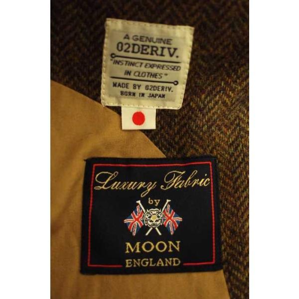 02 DERIV. (ツーディライブ) アウター メンズ サイズジャケット1 ベスト1 Luxury Fabric by MOON 2ピースツイードテ|bazzstore|03