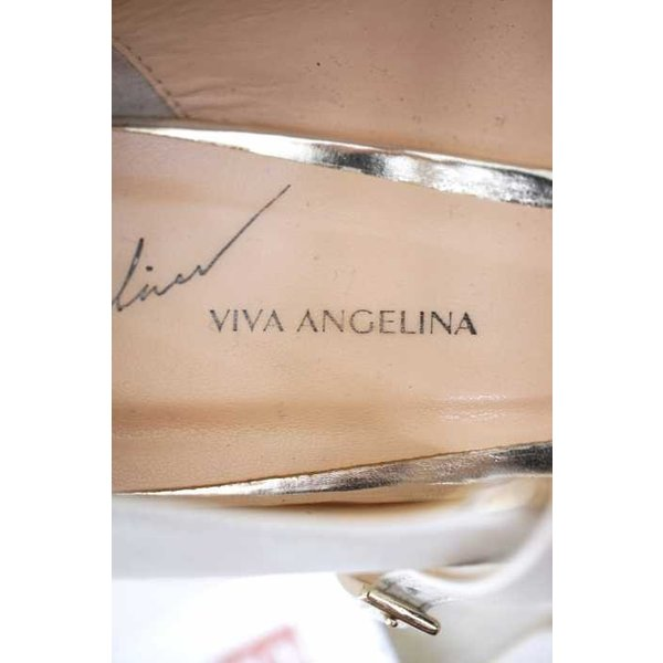 ビバアンジェリーナ VIVA ANGELINA パンプス レディース サイズJPN:24.5 ストラップレザーパンプス 中古 ブランド古着バズストア