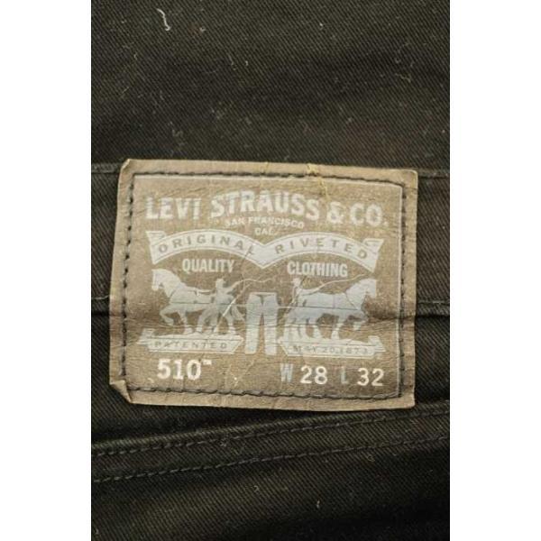 リーバイス Levis 510 スキニーブラックデニム メンズ w28 l32 中古 ブランド古着バズストア 200630|bazzstore|03