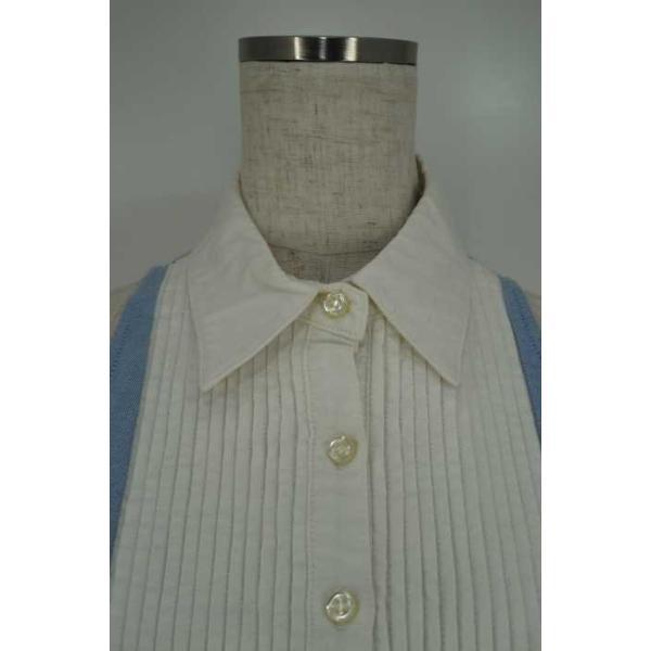 ダブルスタンダードクロージング DOUBLE STANDARD CLOTHING シャツ レディース サイズF ノースリーブシャツワンピース 中古 ブ|bazzstore|06