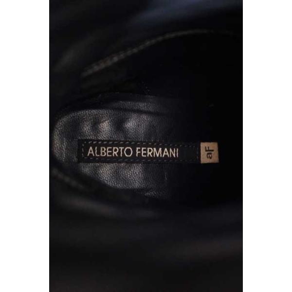 アルバート ALBERTO FERMANI ブーツ レディース サイズ37 1/2 バックベルトミドルブーツ 中古 ブランド古着バズストア 14101