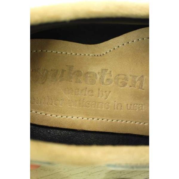 ユケテン Yuketen デッキシューズ レディース サイズ表記無 スウェードワッペン付き 中古 ブランド古着バズストア 180618