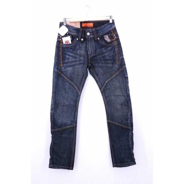 メンズジーンズ、デニム  TOUGH Jeansmith サイズ28inch エイジング加工 RENOVAT 中古 ブランド古着バズストア 200202