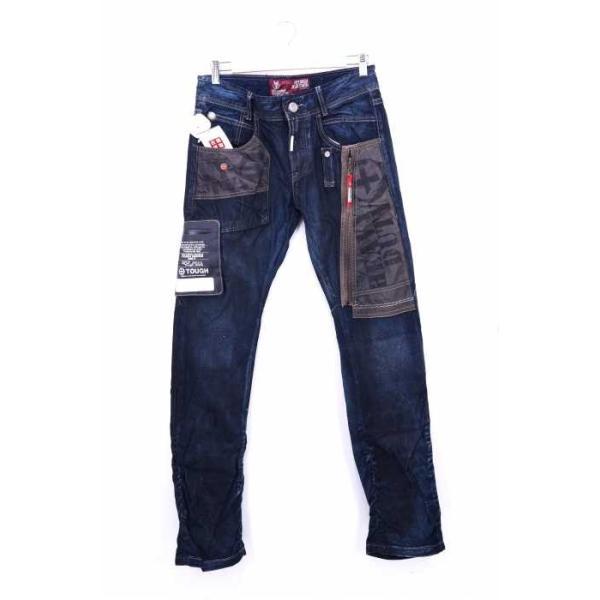 TOUGH Jeansmith デニムパンツ メンズ サイズ30inch USED加工 HEAT WELD中古 ブランド古着バズストア 191104