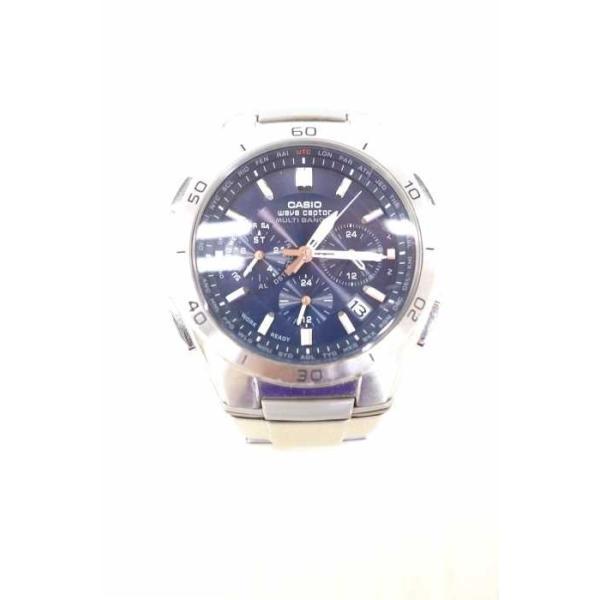 3ceaa7a379 カシオ CASIO ソーラー腕時計 メンズ サイズ表記無 クロノグラフソーラー電波時計 中古 ブランド古着 ...