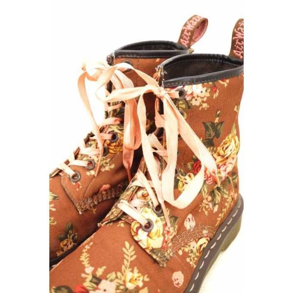 ドクターマーチン Dr.Martens ショートブーツ レディース サイズUK:4 花柄 8ホールブーツ キャンバス  ブランド古着バズストア 2