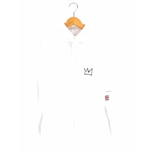 レイジブルー RAGEBLUE Jean-Michel Basquiat ペイントシャツ メンズ M 中古 ブランド古着バズストア 200404