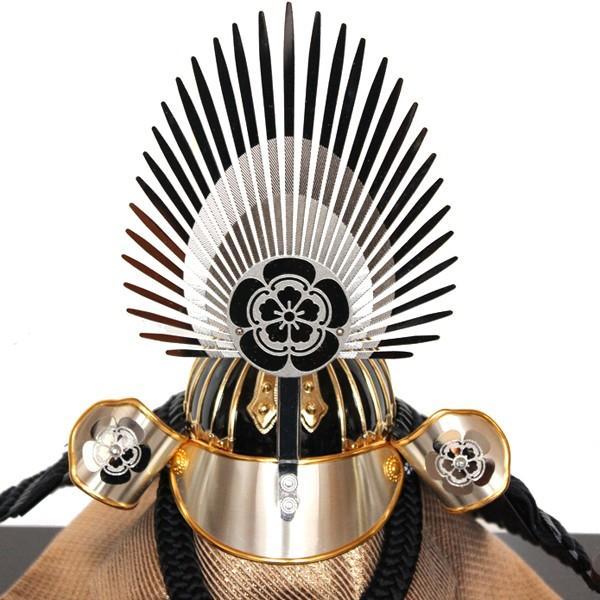 五月人形 ケース入り兜飾り 織田信長 皐月人形 アクリルケース 赤瀬 16A-37|bb-yamadaya|05