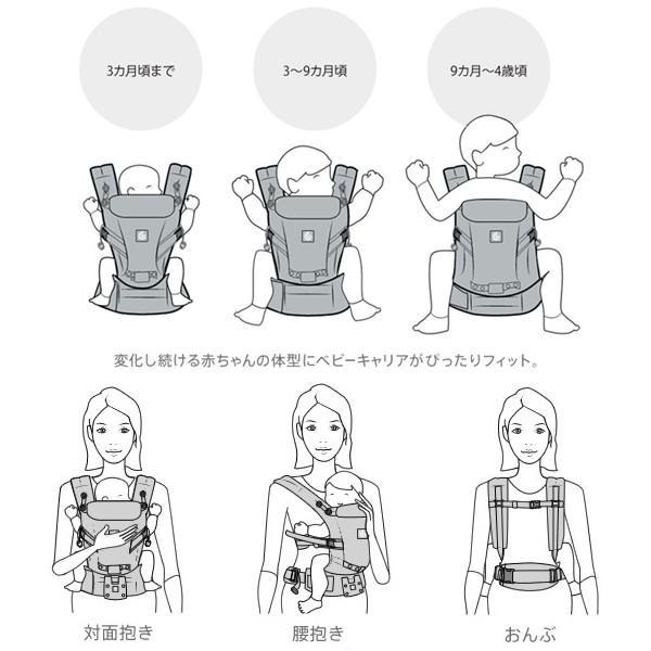 エルゴ 抱っこ紐 新生児 夏用 抱っこひも アダプト クールエアー 新色追加 adapt 日本正規品 2年保証 送料無料|bb-yamadaya|04