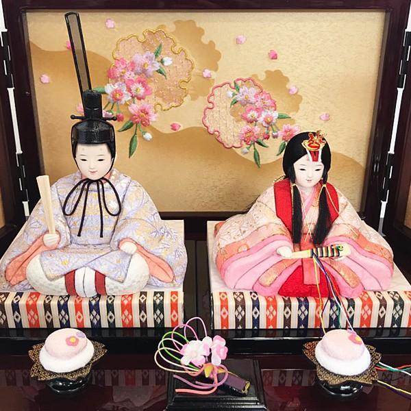 雛人形 コンパクト 久月 収納飾り 親王飾り 木目込み ひな人形 ほのか 瑞希雛 二人 HN2-3S 送料無料 bb-yamadaya 09