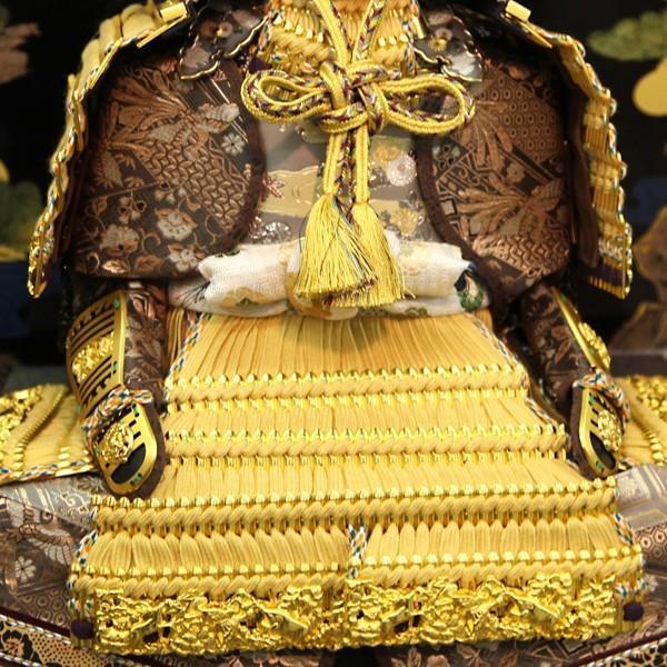 五月人形 久月 平飾り 仁王大鎧飾り 正絹緋縅 12号 利光監製  29367|bb-yamadaya|05