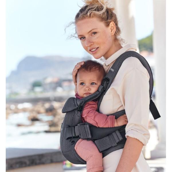 抱っこ紐 夏用 新生児 抱っこひも ベビービョルン ONE KAI AIR メッシュ ワンカイ エアー ティージングスタイ付 2点セット|bb-yamadaya|13