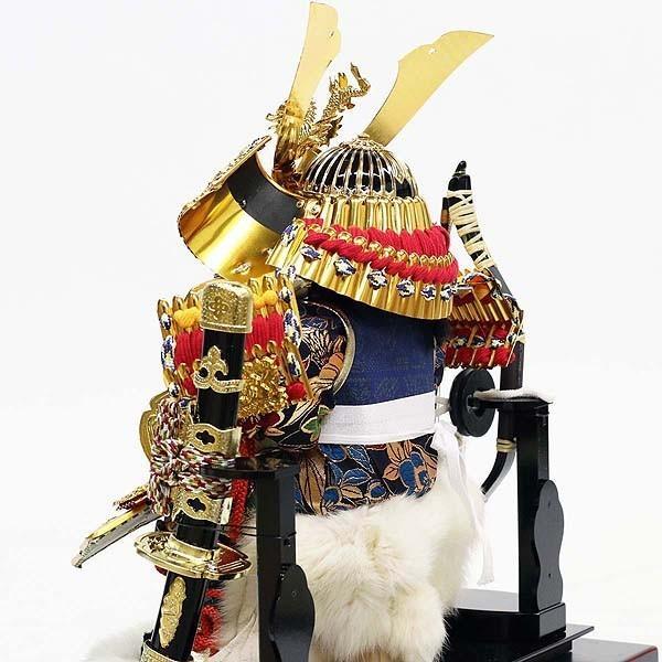 五月人形 コンパクト ケース入り 五月飾り 久月 子供大将取付 6号 アクリルケース オルゴール付 T53107 送料無料|bb-yamadaya|05