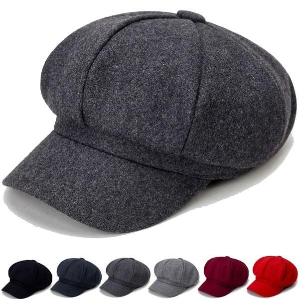 フェルト風キャスケット帽子無地8枚はぎキャスケット帽ハンチングキャップメンズレディース秋冬CAP1306