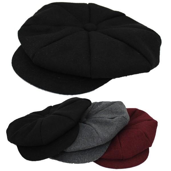 キッズ キャスケット 帽子 フェルト帽 無地 子供用 キャスケット帽 厚手 ハンチング キャップ 秋 冬 CAP 1322|bbdirect|06