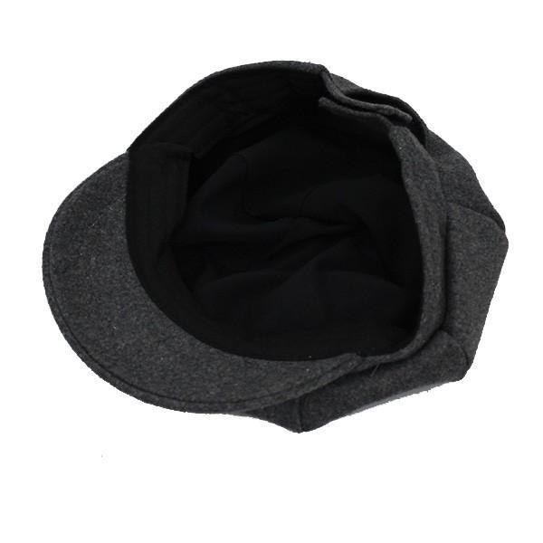 キッズ キャスケット 帽子 フェルト帽 無地 子供用 キャスケット帽 厚手 ハンチング キャップ 秋 冬 CAP 1322|bbdirect|07