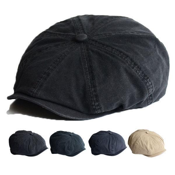 コットンキャスケット帽子キャップ無地純色綿キャスケット帽ハンチングメンズレディースCAP1323