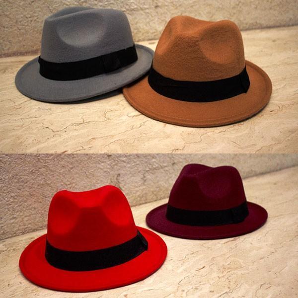 帽子 中折れ フェルトハット 中折れ フェルト帽 中折れハット S M キッズハット 子ども用 無地 メンズ レディース 親子帽子 FELT HAT 3020|bbdirect|03