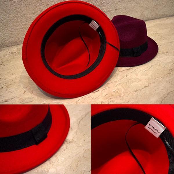 帽子 中折れ フェルトハット 中折れ フェルト帽 中折れハット S M キッズハット 子ども用 無地 メンズ レディース 親子帽子 FELT HAT 3020|bbdirect|04