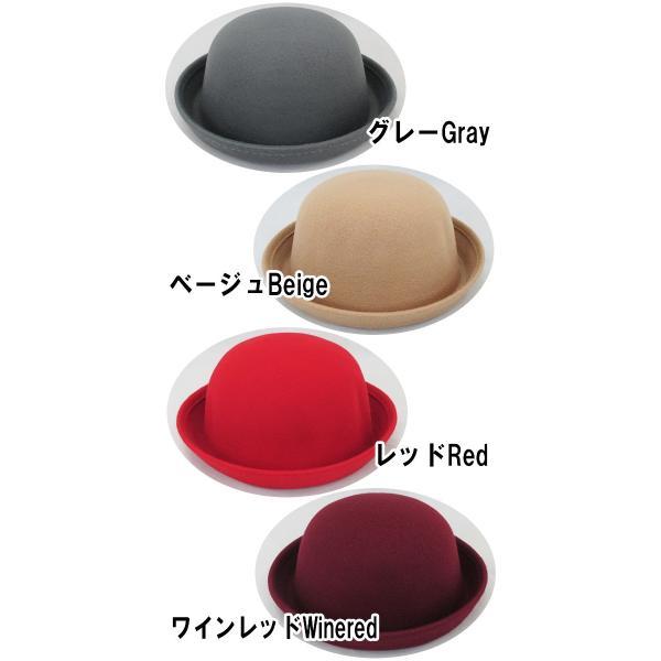 ボーラーハット 帽子 フェルトハット 猫耳 ネコ耳 キッズハット メンズ レディース 子供用 フェルト帽 親子帽子 S M HAT 324|bbdirect|03